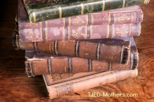 http://www.dreamstime.com/royalty-free-stock-photography-stack-antique-books-backs-image19120917