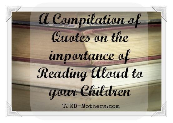 The Importance of Reading Aloud to your Family