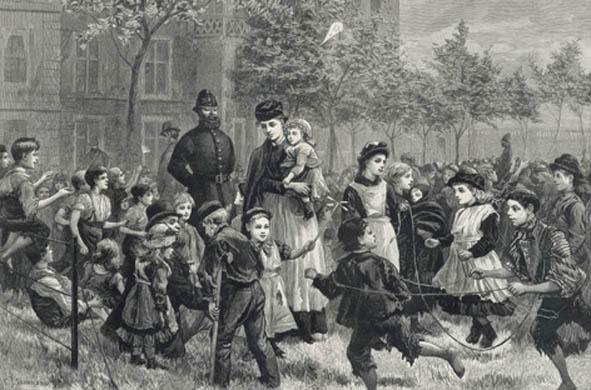 victorian children playing