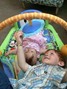 Braedon (4) and Courtney (3 months)