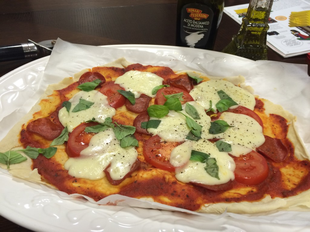 Gluten free Margarita pizza made by Charisa (18).