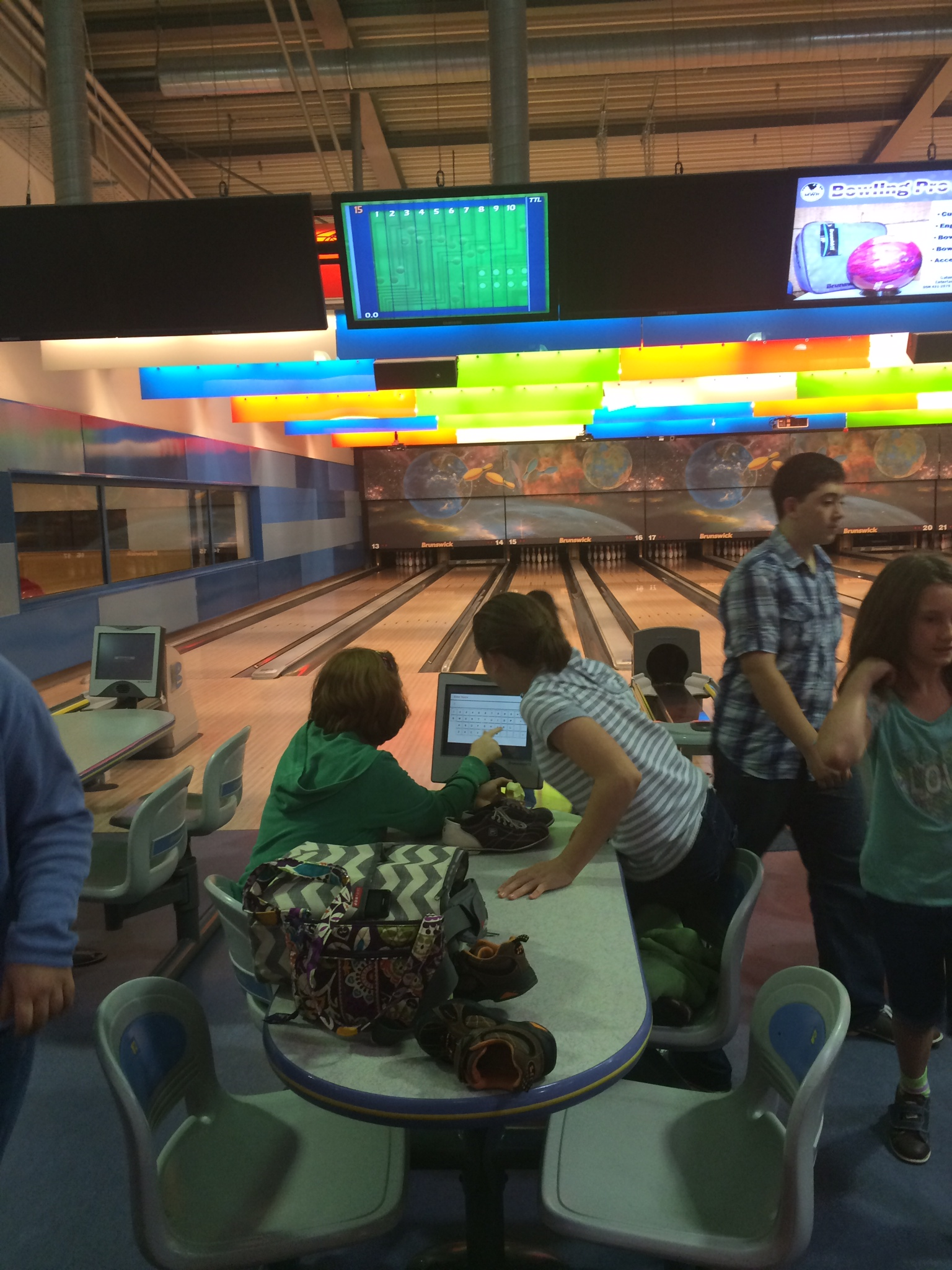 Reflections on our Day homeschooling; and Bowling at Night
