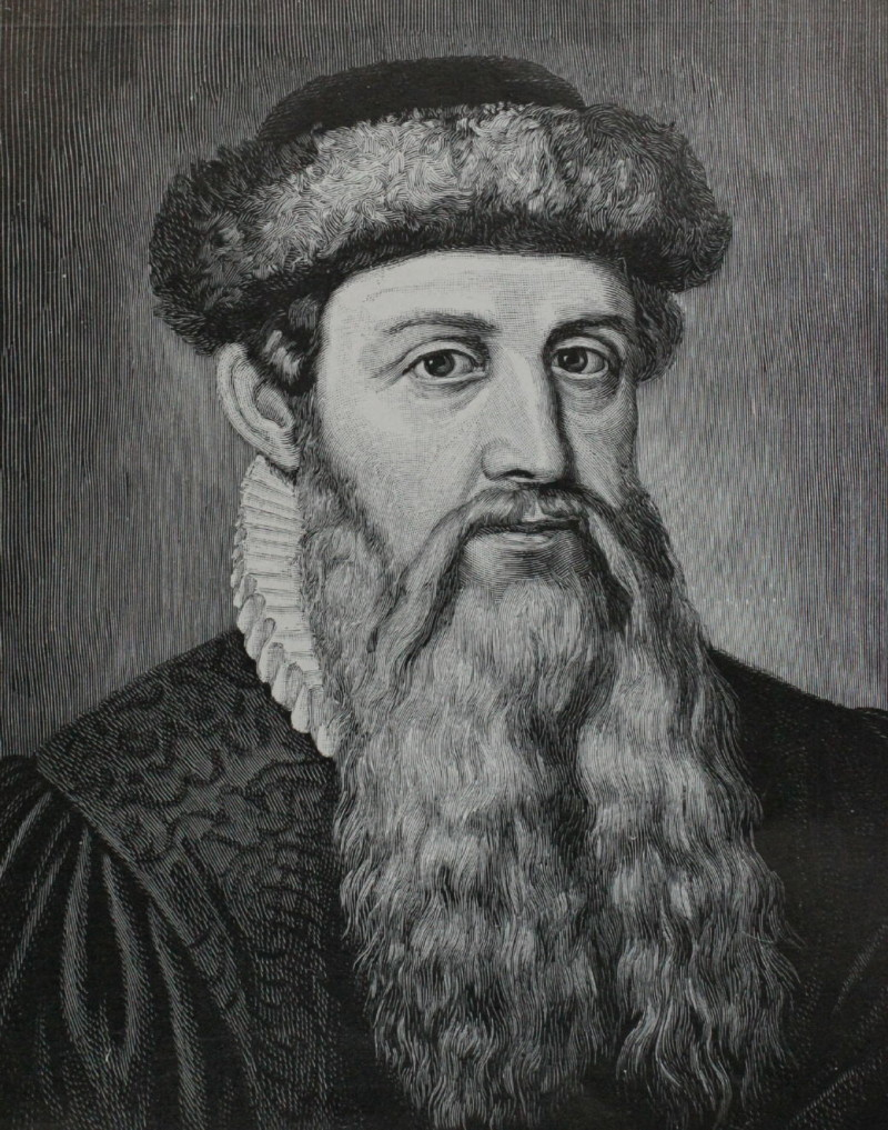 Martin Luther and Johannes Gutenberg